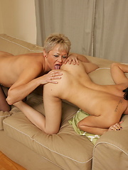 Amazing scene between old-and-young lesbians