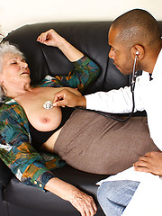 Black doctor fucks his silver granny patient Marimar