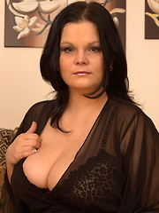 Lovely mature with huge boobs
