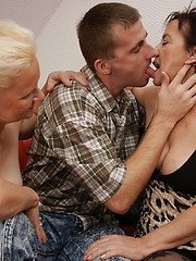Two mature sluts love the cock