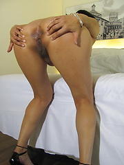 Kinky housewife playing with herself