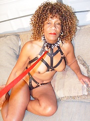 Older black woman Barbara loves dirty games